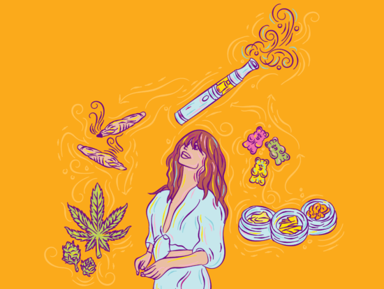 Illustration buying cannabis products guide