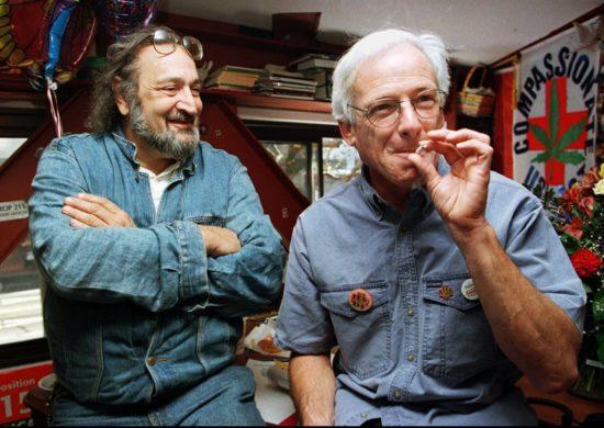 Dennis Peron smoking joint